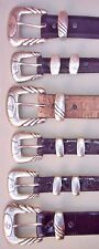 Lucchese Classics Hand Made Exotics Belts, Sizes (32, 36, & 38)