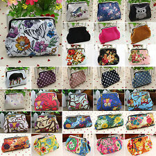 Womens Mini Vintage Clutch Owl Flower Wallet Hasp Purse Coin Holder Case Handbag