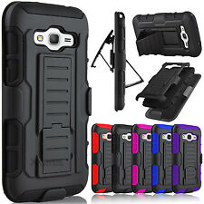 Hybrid Rubber Armor Belt Clip Holster Case Cover for Samsung Galaxy Grand Prime