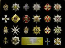 SET BOX 22 Badge & Breast Star of Russian Imperial Order and Imperial Award COPY