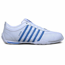 K-Swiss Arvee 1.5 Mens Perforated Trainers White Blue Iconic Leather Court Shoes
