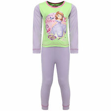 Girls Disney Sofia The First Learning to Dance Long Pyjama Sleepwear Nightwear