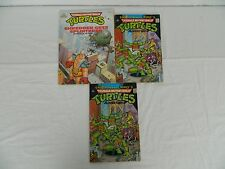 TMNT Teenage Mutant Ninja Turtles Lot Of 3 1988 Comic Book Coloring Book Archie