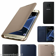Leather Flip Book Case Cover Wallet Card Holder For Samsung Galaxy S7 Edge & S7