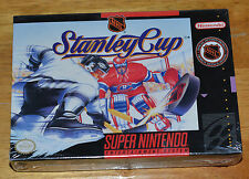 NEW SEALED NHL Stanley Cup Super Nintendo Video Game 1993 H Seam SNES System