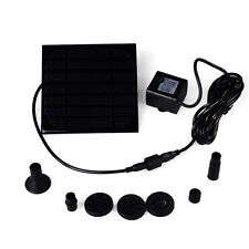 New Small Landscape Pool Garden Fountains 7V 1W Solar Power Fountain Water Pump