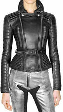 Women's Leather Jacket Slim Fit Genuine Lambskin Biker Motorcycle Jacket  WJ121