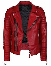 Mens Leather Jacket Black Slim fit Biker Motorcycle Genuine Leather Jacket MJ707