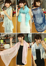 Women Fashion Pretty Long Soft Chiffon Scarf Wrap Shawl Stole Scarves lot New  X