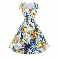Floral Prints Dress Swing Pinup Cocktail Dress New Women Vintage Style Dress