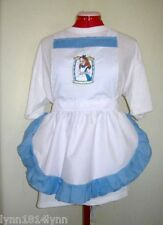 LADIES ALICE IN WONDERLAND CHARACTER APRON Design pick characters size +trim