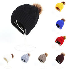 Women Ladies Knitted Crochet Winter Oversized Slouch Beanie Hat Warm Cap NEW 255