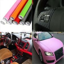 3D Carbon Fiber Vinyl Car Truck DIY Wrap Sheet Film Sticker Decal Roll 8 Colors