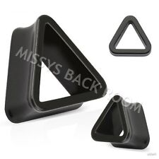 """Solid Acrylic Triangle Tunnel Plug 6g-5/8"""" Flared 8 Sizes Pair FREE SHIP"""