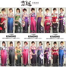 Japanese Women's Traditional KIMONO & HAKAMA & OBI set Graduation ceremony NEW