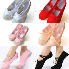 Child Adult Canvas Ballet Dance Shoes Slippers Pointe Dance Gymnastics