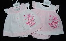 Tiny Baby Newborn Baby Girls Embroidered Dress Pants Set *One Supplied*