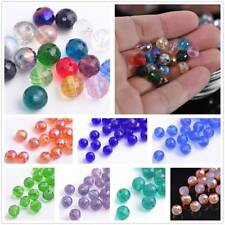 New Hotsale 30pcs 8mm Round Faceted Glass Loose Spacer Beads Jewelry Findings
