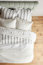 Anthropologie Salento Striped King Duvet Cover with 2 King & 2 Euro Shams