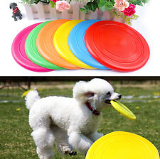 Colorful Pet Dog Flying Disc Training Toy Frisbee Fetch Soft for Puppy Outdoor