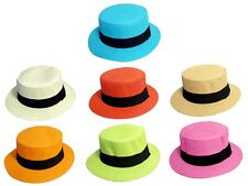 Fedora Hats Women Flat Top Hats Many Colors  ( FedHat72**)