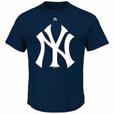 New York Yankees Majestic Official Logo T Shirt Blue