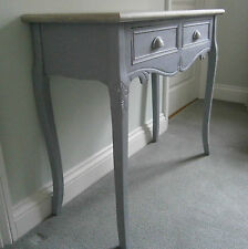 Custom Hand Painted French Country Shabby Chic 2 Drawer Console Table