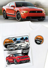 Mustang The Boss Is Back T-Shirt - Ford Pony Cobra 1969 1970 2012 2013 Boss 302