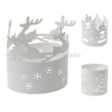 10 White XMAS Candle Decoration Paper Tea Light Holder Party Christmas Theme