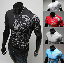New Shirts Mens Fashion Luxury T-Shirt Short Sleeve Hot Men Casual Slim Fit