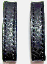 "Two 3/8""-Wide Genuine Leather Skinny Replacement Belt / Strap Keeper Loops USA"