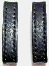 """Two 3/8""""-Wide Genuine Leather Skinny Replacement Belt / Strap Keeper Loops USA"""