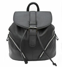 NEW style Prime Hide Ladies Stylish Large Soft  Leather Backpack Rucksack 916