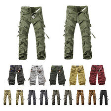 Military Cargo Pants Men's Multi-pocket Chic Trousers Trend Shorts With belt WS