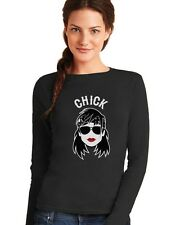 Chick - Bikers Matching Couples Gift Cool Funny Women Long Sleeve T-Shirt Chick