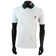 Mens Lyle & Scott Green/White Polo Shirt SRP £64.99