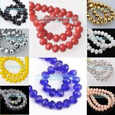 New 30pcs 10mm Rondelle Faceted Jewelry Findings Charm Crystal Glass Loose Beads