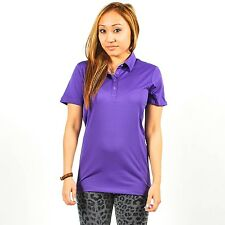 PUMA WOMENS GOLF TECH POLO VIOLET PURPLE USP DRY MOISTURE MANAGEMENT 559485 08