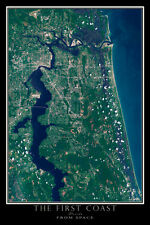 Jacksonville Florida - The First Coast From Space Satellite Poster Map