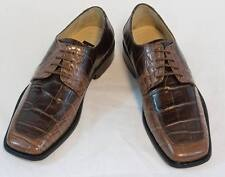 New Fortune Brown Croco Dress Shoes by Liberty  Laceup Leather, L-641