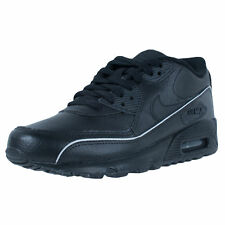 NIKE BOYS AIR MAX 90 (GS) RUNNING SHOES BLACK 307793 002 SIZE 4Y