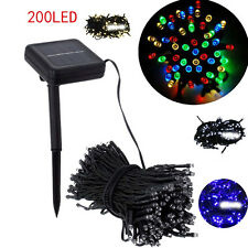 200 LED Outdoor Solar Powered String Light Garden Christmas Party Fairy Lamp 3C