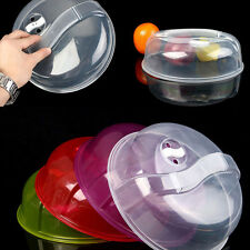 Transparent Microwave Ventilated Plate Dish Food Cover Steam Vent Lid Popular#1
