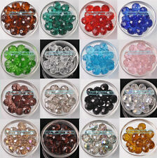 Bulk Wholesale New 5pcs 18mm Rondelle Faceted Crystal Glass Loose Spacer Beads