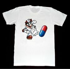Dr. Mario Pills NES Tshirt D6 T-Shirt Pharmies Pharmaceuticals Cocaine Drugs