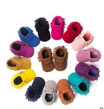 Hot Baby Moccasins PU Suede Leather Newborn Baby Boy Girl Soft Moccs Shoes Bebe