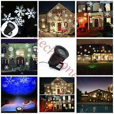 Outdoor Laser 6 LED Lights Projector Moving 4 Pattern Christmas Party Spotlights