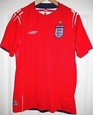 VINTAGE ENGLAND AWAY FOOTBALL SHIRT 04-06 UMBRO X-STATIC MENS MEDIUM EURO 2004
