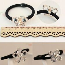 Cute Girls Kids Glass Crystal Elastic Hair Tie Band Rope Ring Ponytail Holder