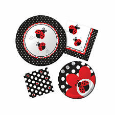 Ladybug Fancy Party Theme Girl's Birthday Party Tableware